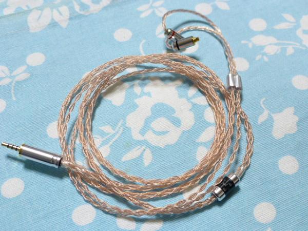 切り込み入 MMCX Pure OCC 八芯 ブレイド 編み込み 2.5mm4極 (カスタム対応可能) カーボンスプリッター SHURE Westone Campfire Audio_画像1