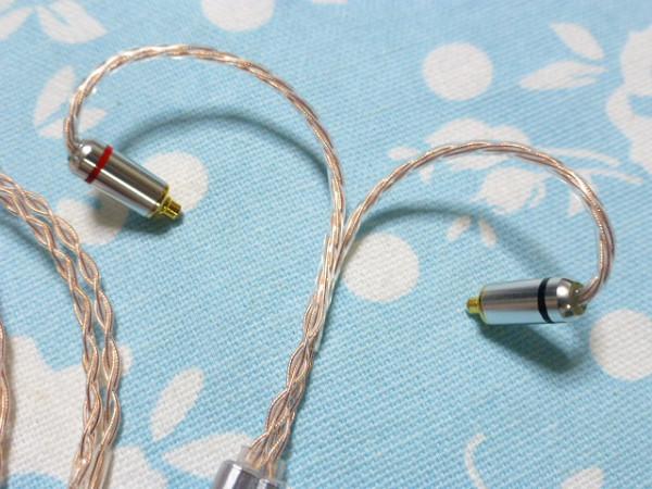 切り込み入 MMCX Pure OCC 八芯 ブレイド 編み込み 2.5mm4極 (カスタム対応可能) カーボンスプリッター SHURE Westone Campfire Audio_画像4