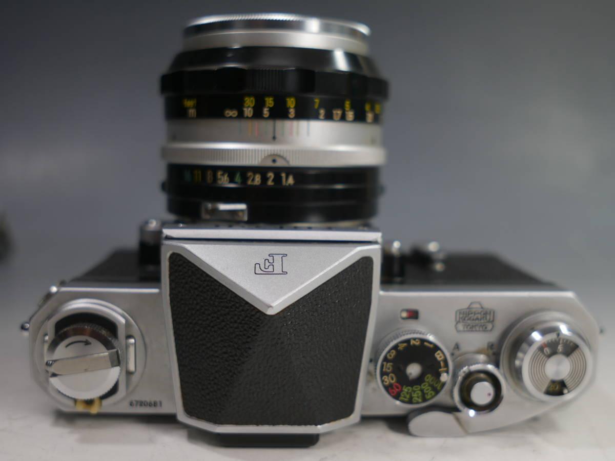 ◆Nikon【F アイレベル】+レンズ【NIKKOR-S Auto 1:1.4 f=50mm】革ケース付属 ニコン_画像4