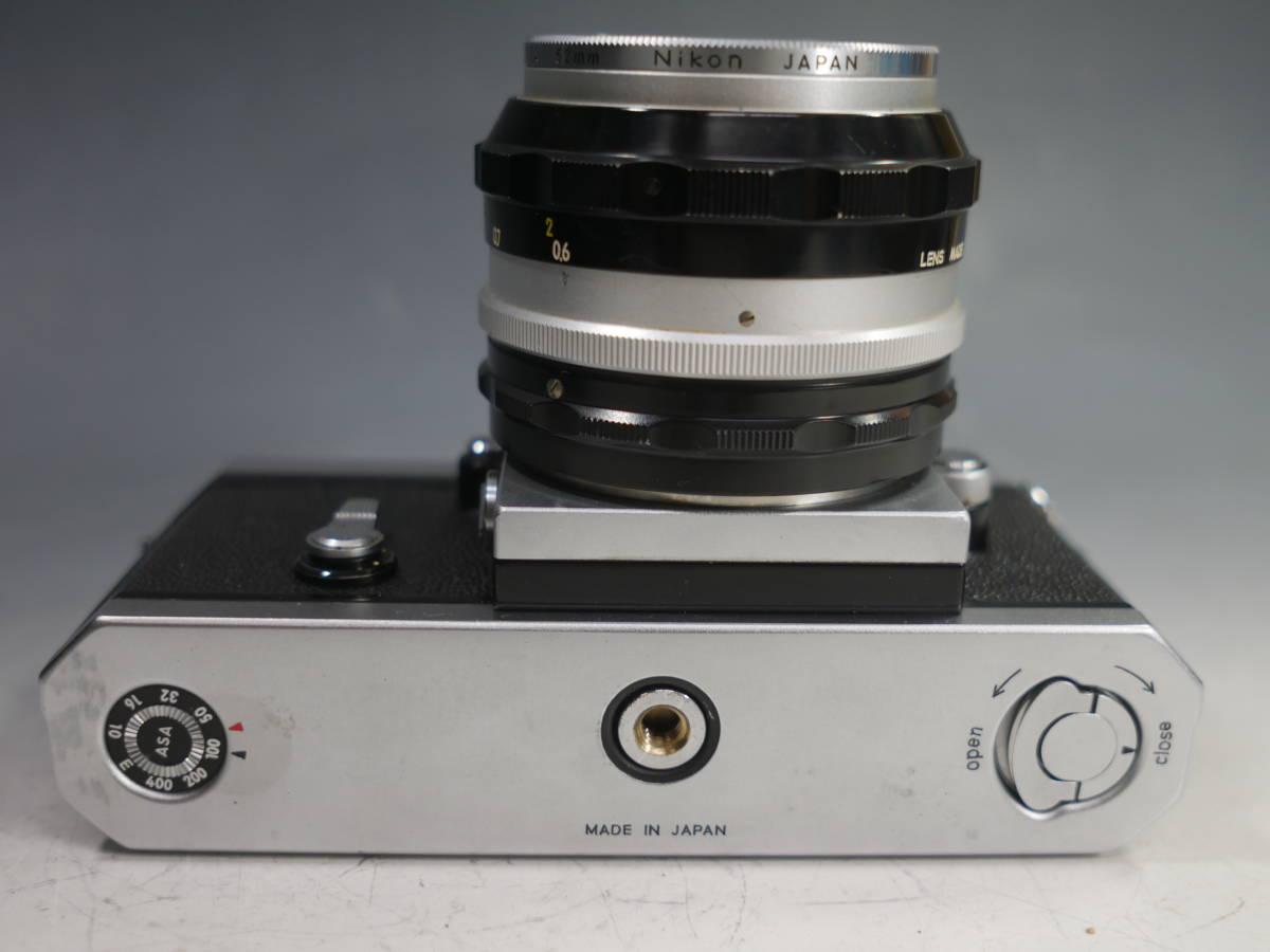 ◆Nikon【F アイレベル】+レンズ【NIKKOR-S Auto 1:1.4 f=50mm】革ケース付属 ニコン_画像5