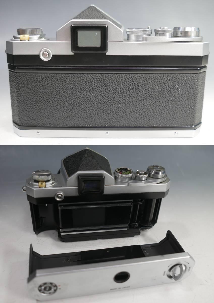 ◆Nikon【F アイレベル】+レンズ【NIKKOR-S Auto 1:1.4 f=50mm】革ケース付属 ニコン_画像6