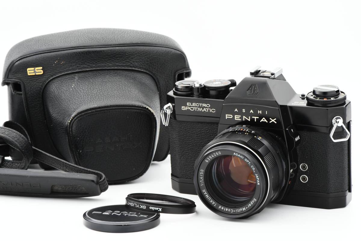 【美品】 PENTAX ペンタックス SPOTMATIC ES 35mm 一眼レフ フィルム カメラ SMC TAKUMAR 50mm f/1.4 レンズ