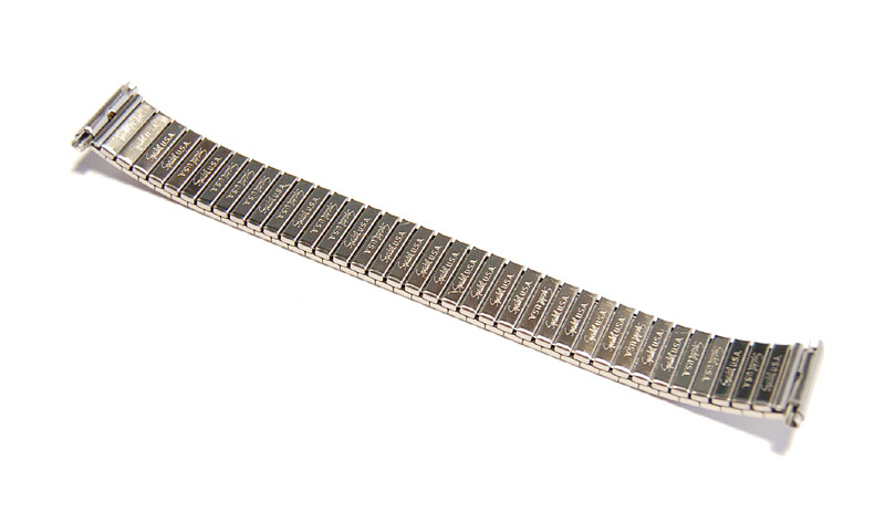 【Speidel】USA 伸縮時計バンド 16-19㎜ メンズウォッチブレス エクスパンション/エクステンション ビンテージ 金属ベルト MB394_画像9