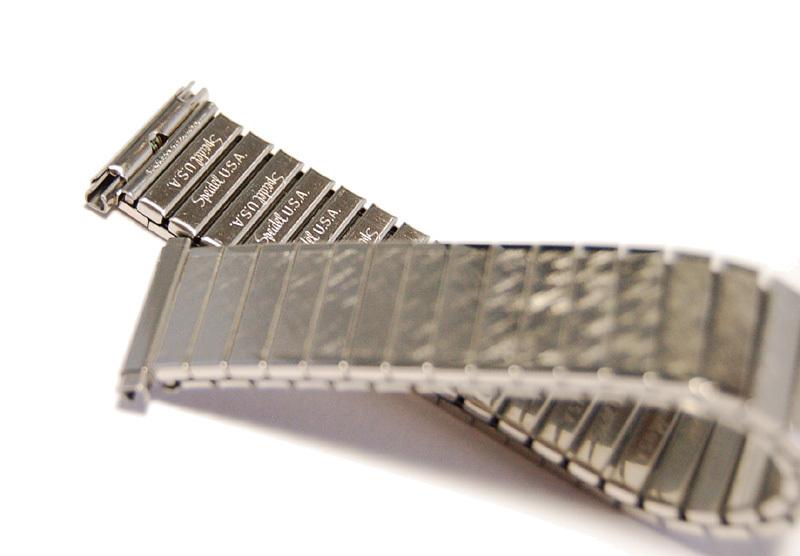 【Speidel】USA 伸縮時計バンド 16-19㎜ 男性腕時計ブレス ステンレススール エクスパンション ヴィンテージ 金属ベルト MB403_画像2