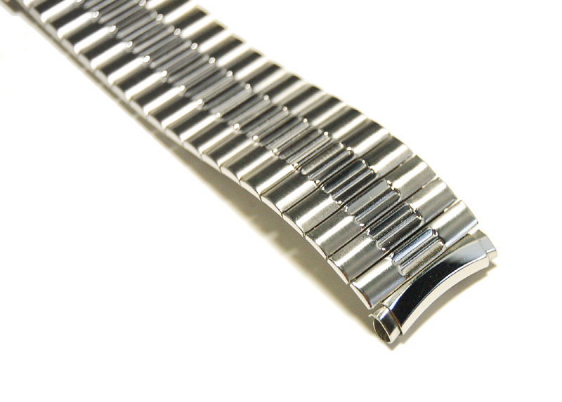 【Speidel】USA メンズウォッチ伸縮バンド 15-18mm 腕時計ベルト ステンレススチール ブレス 当時もの ビンテージ MB424_画像6