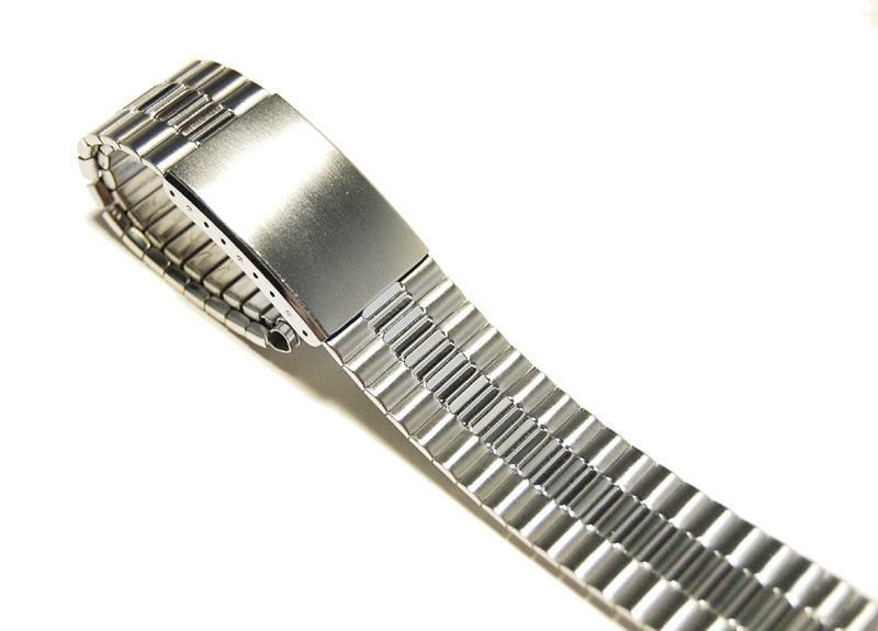 【Speidel】USA メンズウォッチ伸縮バンド 15-18mm 腕時計ベルト ステンレススチール ブレス 当時もの ビンテージ MB424_画像2