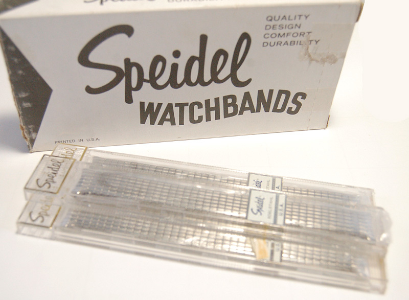 【Speidel】USA アメリカ 当時もの ウォッチバンド 19mm 伸縮ブレス メンズ腕時計金属ベルト ビンテージウォッチに MB450_数量1=バンド1本