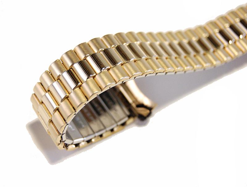 【Speidel】USA アメリカ 当時もの ウォッチバンド 20mm 伸縮ブレス メンズ腕時計金属ベルト ビンテージウォッチに MB453_画像5