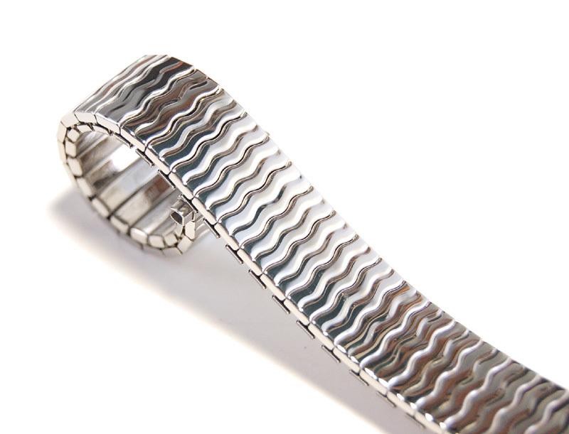 【Speidel】USA アメリカ 当時もの ウォッチバンド 伸縮ブレス 16-19mm メンズ腕時計金属ベルト ビンテージウォッチに MB446_画像1