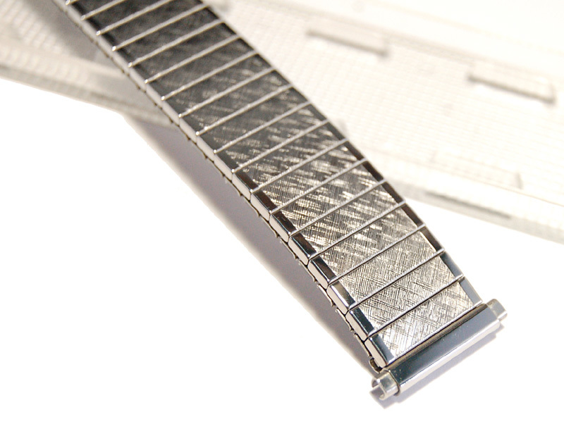 【Speidel】USA 伸縮時計バンド 16-19㎜ メンズウォッチブレス エクスパンション/エクステンション ビンテージ 金属ベルト MB394_画像5