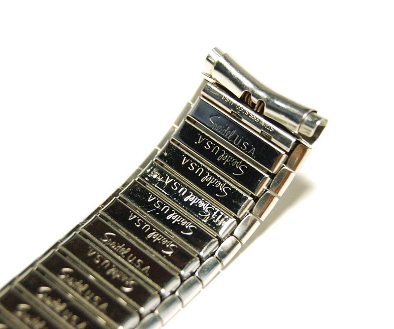 【Speidel】USA メンズウォッチ伸縮バンド 15-18mm 腕時計ベルト ステンレススチール ブレス 当時もの ビンテージ MB424_画像3