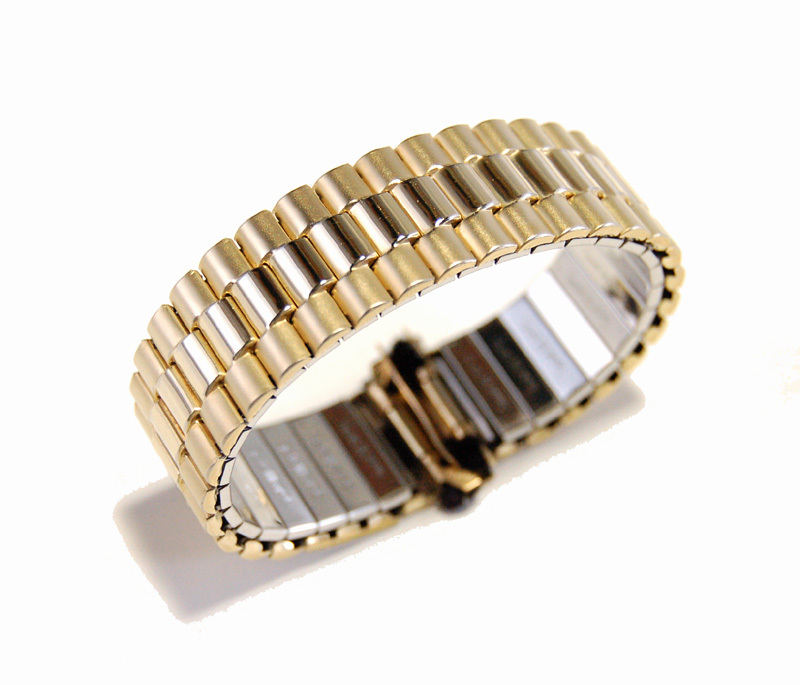 【Speidel】USA アメリカ 当時もの ウォッチバンド 20mm 伸縮ブレス メンズ腕時計金属ベルト ビンテージウォッチに MB453_画像7