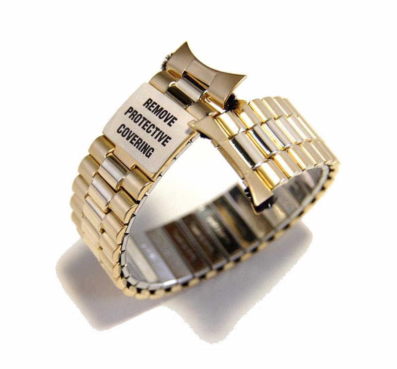 【Speidel】USA アメリカ 当時もの ウォッチバンド 20mm 伸縮ブレス メンズ腕時計金属ベルト ビンテージウォッチに MB453_シールが付いたままです