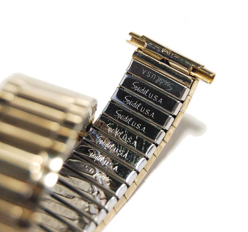 【Speidel】USA 伸縮ブレス 17-22mm 腕時計金属ベルト メンズウォッチ用バンド 当時もの アメリカ ヴィンテージ/ビンテージ MB430_画像2