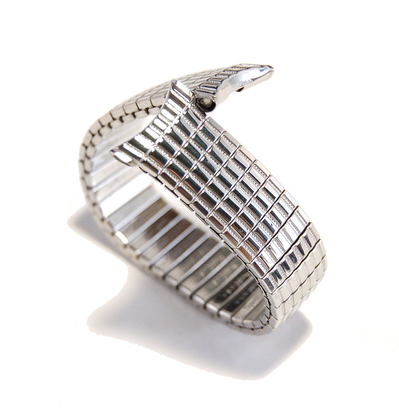 【Speidel】USA アメリカ 当時もの ウォッチバンド 19mm 伸縮ブレス メンズ腕時計金属ベルト ビンテージウォッチに MB450_画像5