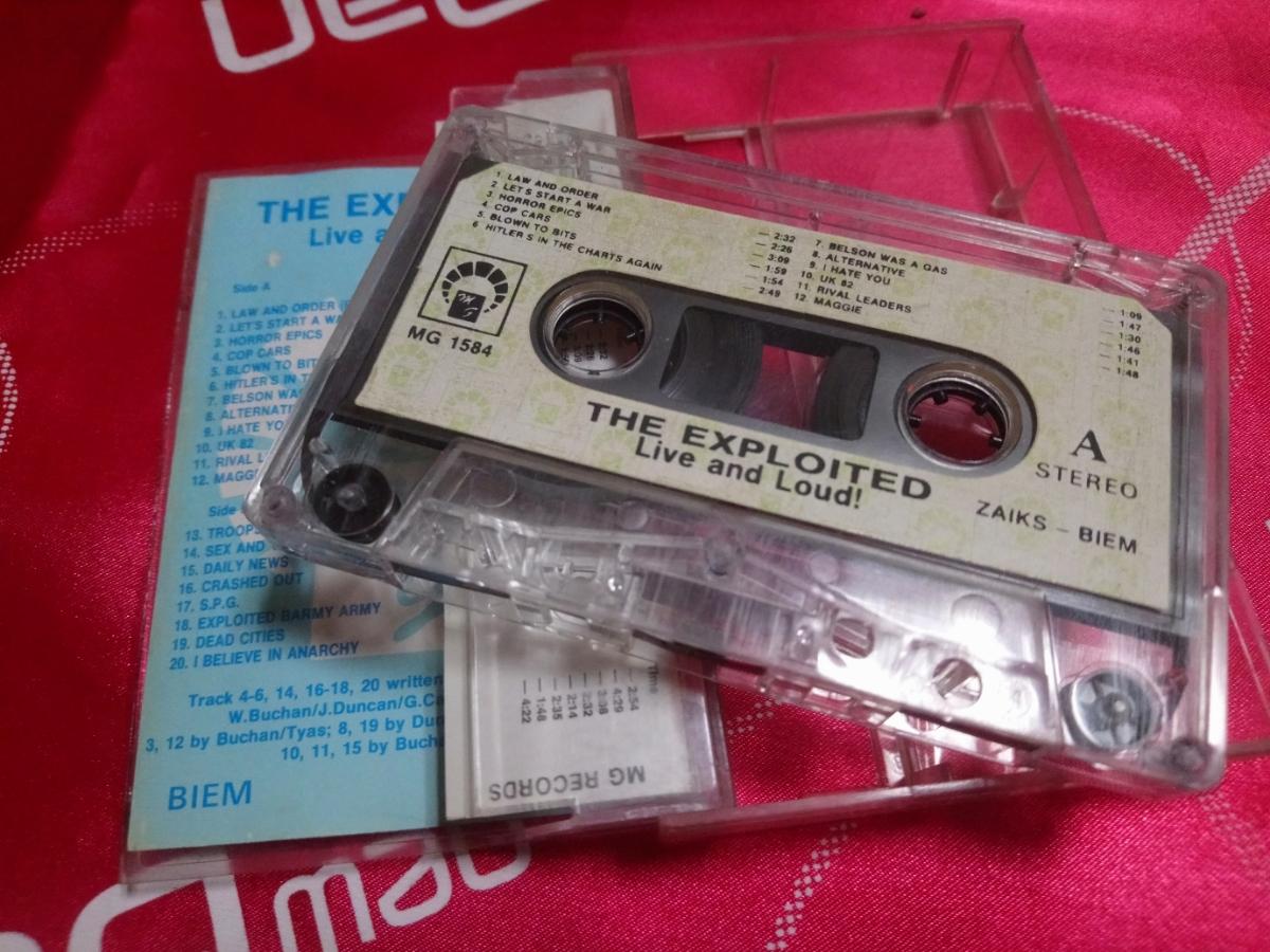 激レア カセット THE EXPLOITED - Live and Loud! MG 1584