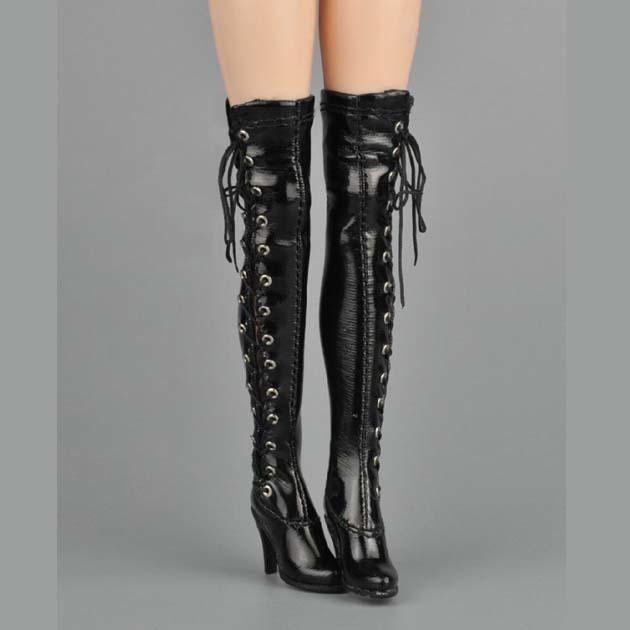 送料無料 1/6サイズ カスタム PHICENファイセン対応 手作り ロングブーツ サイハイブーツ 靴単品 番号C22_画像3