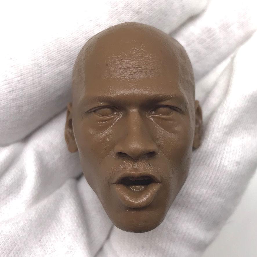 送料無料 1/6 DIY ヘッド 手作り 未塗装男性ヘッド マイケル・ジョーダン 番号B44