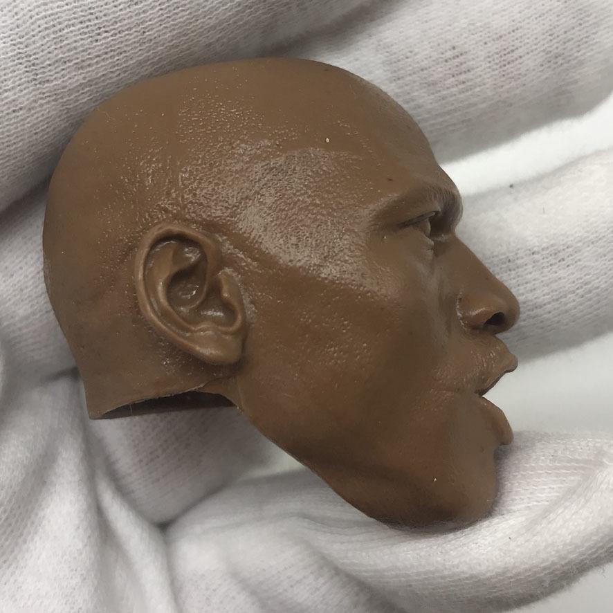送料無料 1/6 DIY ヘッド 手作り 未塗装男性ヘッド マイケル・ジョーダン 番号B44_画像3