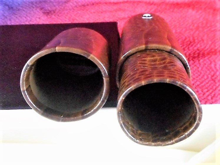 最後の1個★モンブラン★クロコ調 ペンケース 茶色★本物・未使用★MONTBLANC LEATHER GOODS 1 Pen Pouch Hard Forest Made in Italy. NEW_画像6