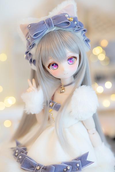 DDH-01 カスタムヘッド セミホワイト肌 ~SnowPrincess Cineraria~ RonshukaCouture_画像3