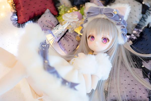 DDH-01 カスタムヘッド セミホワイト肌 ~SnowPrincess Cineraria~ RonshukaCouture_画像5