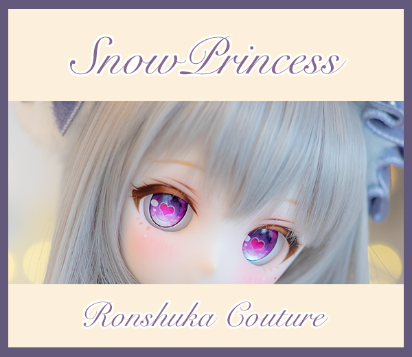 DDH-01 カスタムヘッド セミホワイト肌 ~SnowPrincess Cineraria~ RonshukaCouture
