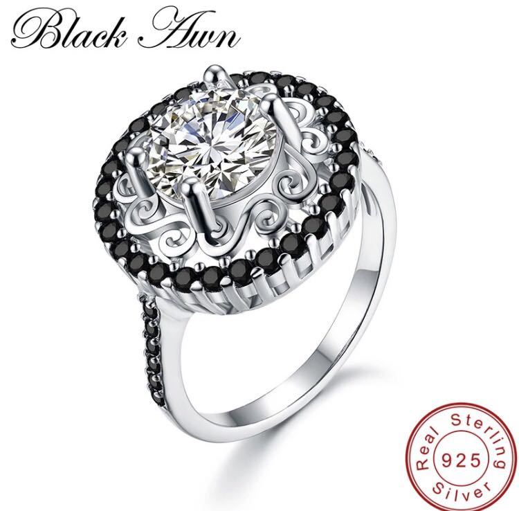 ◆ new ◆ luxury and presence is amazing ♪ beautiful zircon S925 sterling silver wedding engagement ring ring gift bridal party No. 11