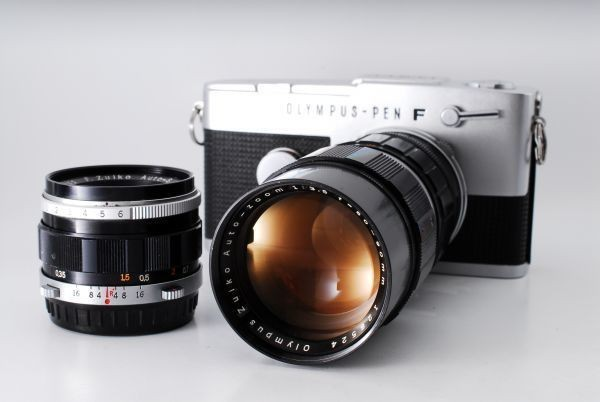 OLYMPUS オリンパス PEN FT F.Zuiko 38mm F1.8 50-90mm F3.5 付属品充実★_画像2