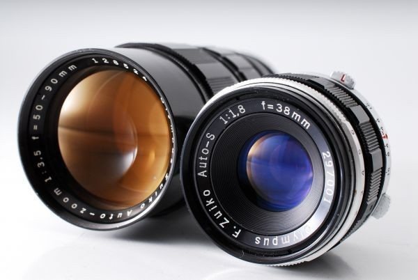 OLYMPUS オリンパス PEN FT F.Zuiko 38mm F1.8 50-90mm F3.5 付属品充実★_画像6