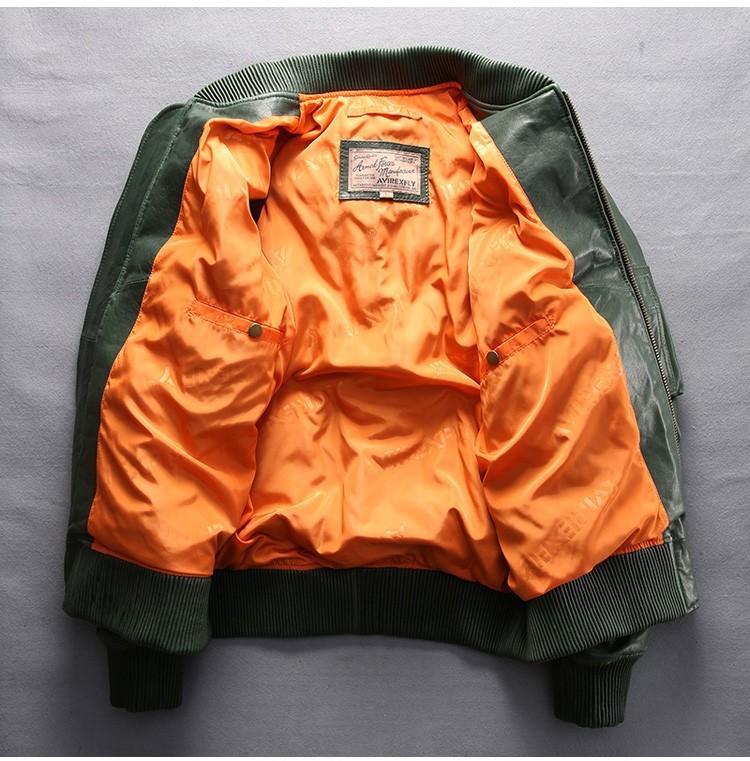 サイズM グリーン ダウンジャケット レザージャケット 羊革 本革 革ジャケット レザーダウン フライトジャケット 羊革バイクジャケット_画像2