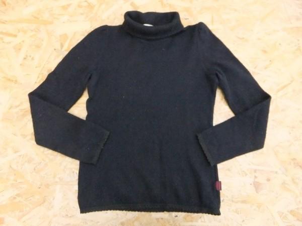 national standard ナショナルスタンダード レディース 日本製 アンゴラ混 パフスリーブ ハイネックニット セーター 黒_画像1