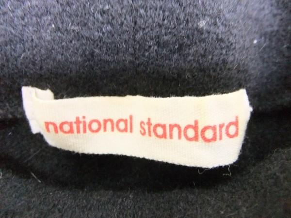 national standard ナショナルスタンダード レディース 日本製 アンゴラ混 パフスリーブ ハイネックニット セーター 黒_画像2