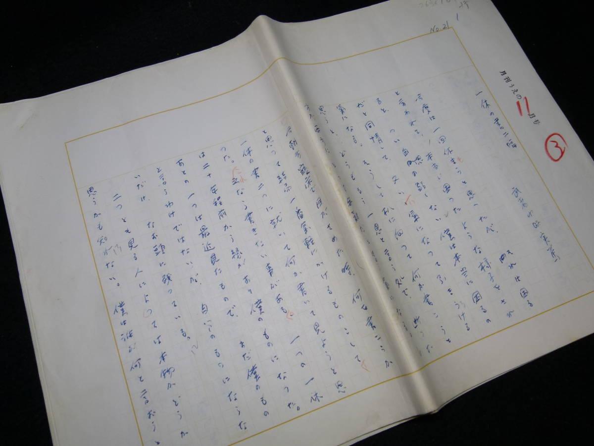 武者小路実篤 肉筆原稿 「一休の書二幅」 11枚完_画像1