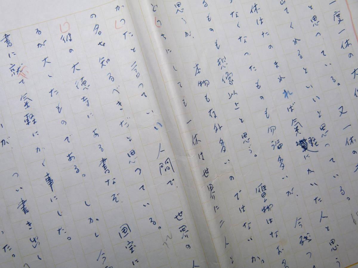 武者小路実篤 肉筆原稿 「一休の書二幅」 11枚完_画像4
