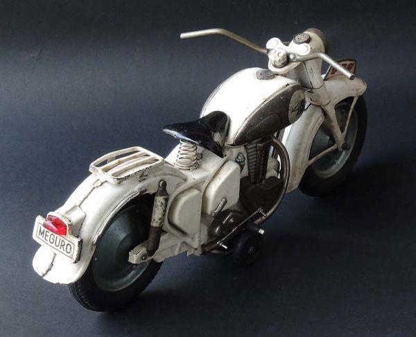≫白犬≪ ≫ オートバイ メグロ 白  長さ約30cm ≪_画像4