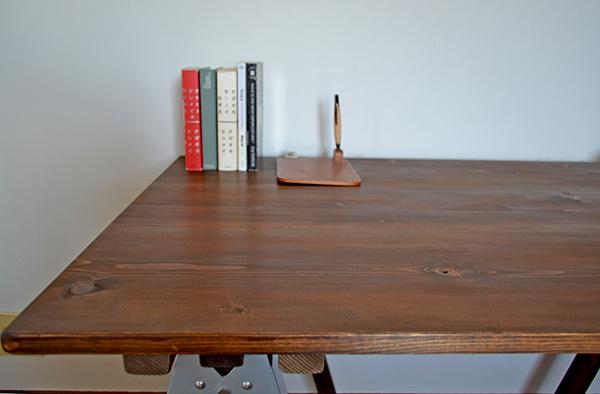 Sawhorse Table 120 2x2 木製脚 馬脚 アンティーク テーブル 什器 アトリエ ワーク デスク 無垢 大きい ソーホース キャンプ_画像2