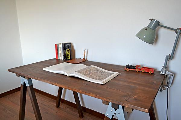 Sawhorse Table 120 2x2 木製脚 馬脚 アンティーク テーブル 什器 アトリエ ワーク デスク 無垢 大きい ソーホース キャンプ_画像1