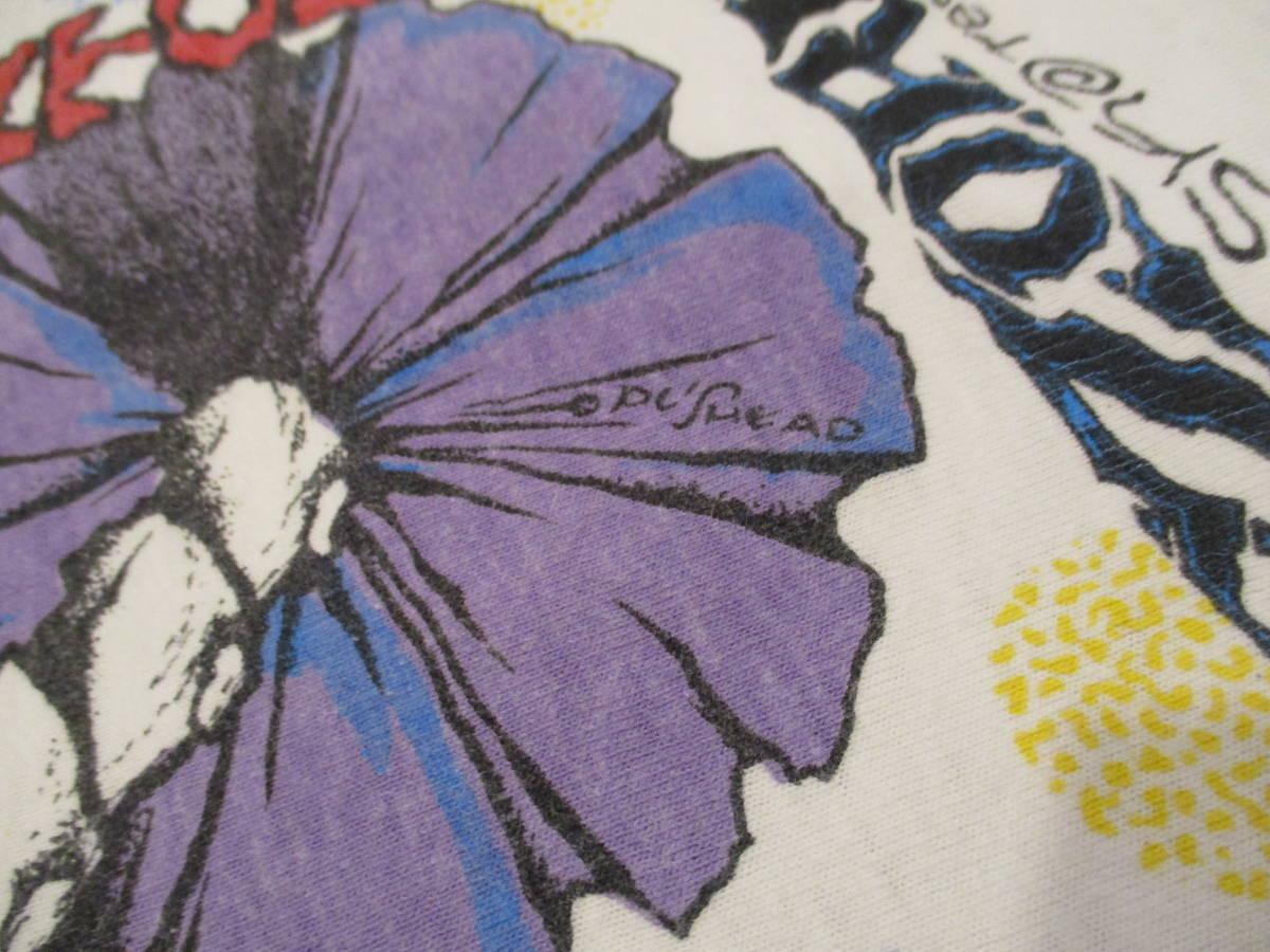 80's ZORLAC STANTON CLOWN PUSHEAD ゾーラック パスヘッド ビンテージ スケボー Tシャツ 白_画像6