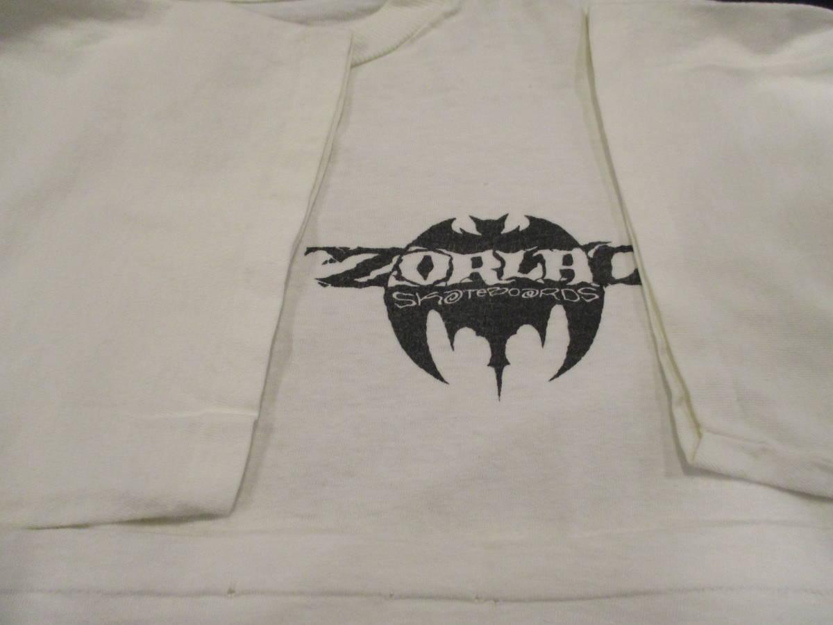 80's ZORLAC STANTON CLOWN PUSHEAD ゾーラック パスヘッド ビンテージ スケボー Tシャツ 白_画像7