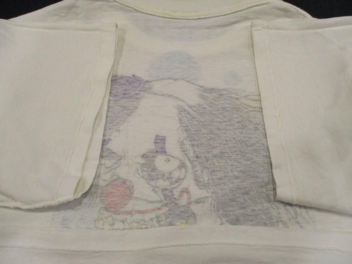 80's ZORLAC STANTON CLOWN PUSHEAD ゾーラック パスヘッド ビンテージ スケボー Tシャツ 白_画像8