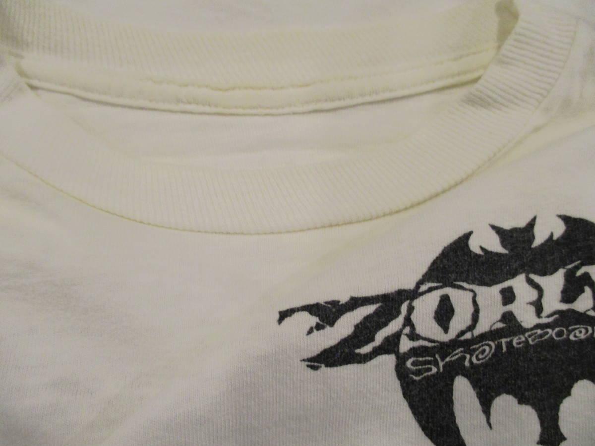 80's ZORLAC STANTON CLOWN PUSHEAD ゾーラック パスヘッド ビンテージ スケボー Tシャツ 白_画像10