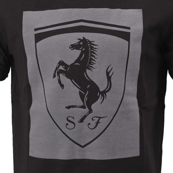 送料250円~新品2018PUMA x Scuderia Ferrariコレクション黒フェラーリ ビッグシールドTシャツMメンズ(Lサイズ相当)576684_02プーマブラック_画像3