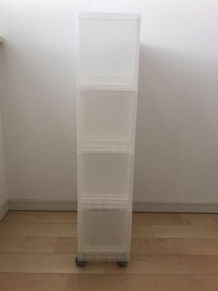 【無印良品】PPストッカー4段・キャスター付 棚 収納 CD MUJI IKEA ヤマギワ ウェグナ