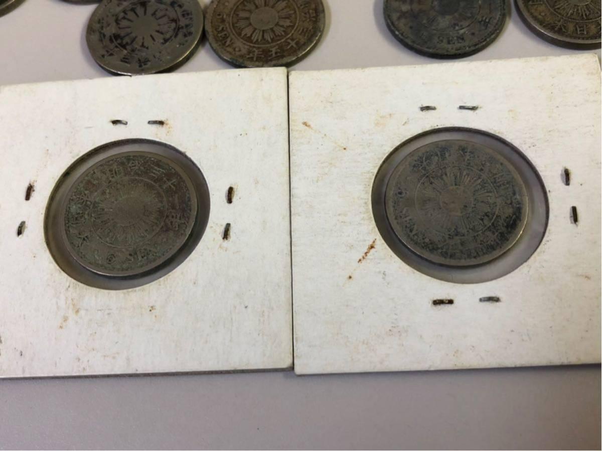 日本 古銭 稲5銭白銅貨 大量 まとめ_画像9