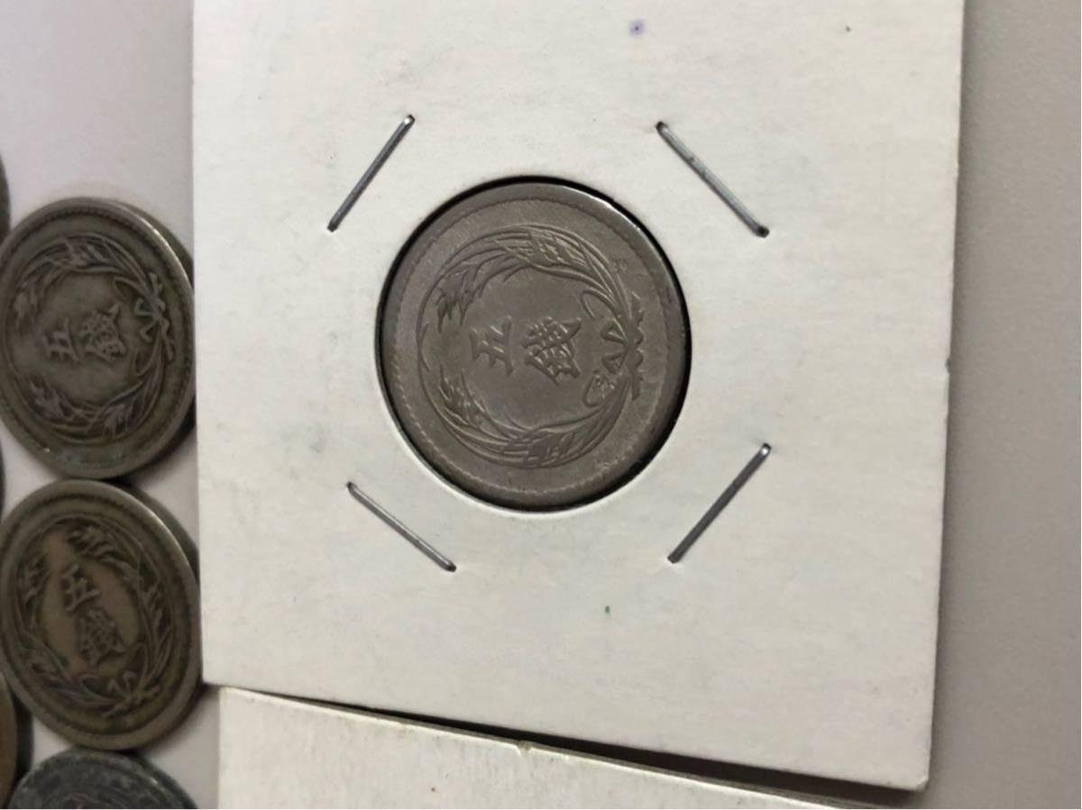 日本 古銭 稲5銭白銅貨 大量 まとめ_画像5