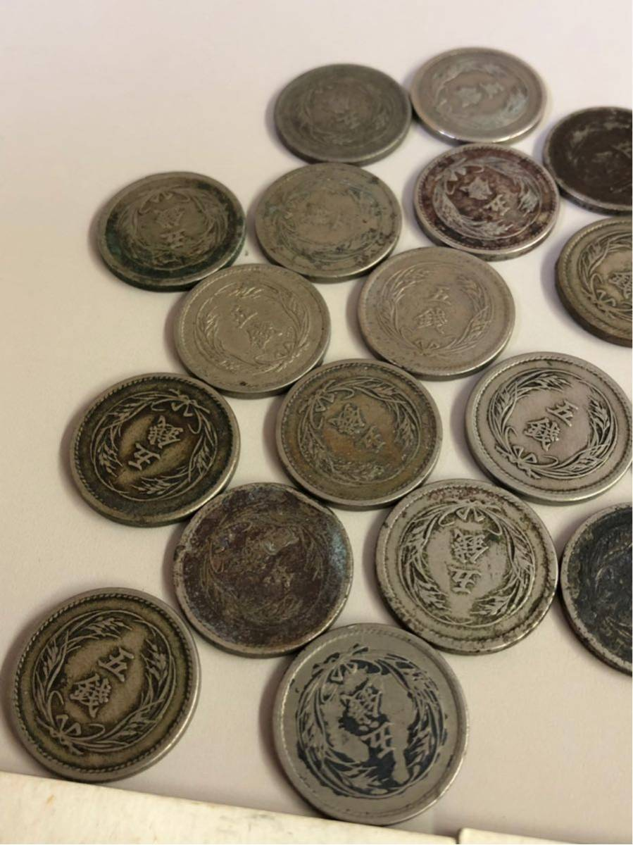 日本 古銭 稲5銭白銅貨 大量 まとめ_画像3