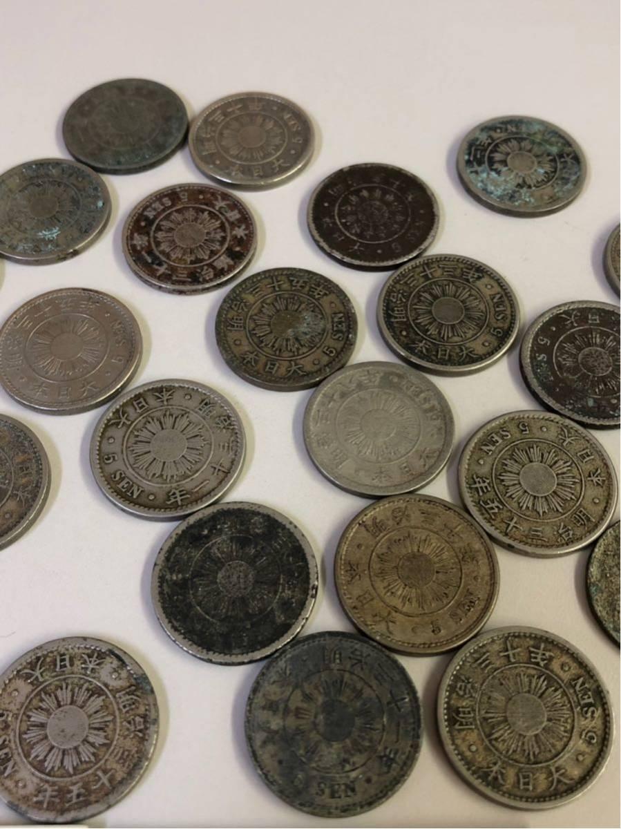 日本 古銭 稲5銭白銅貨 大量 まとめ_画像7