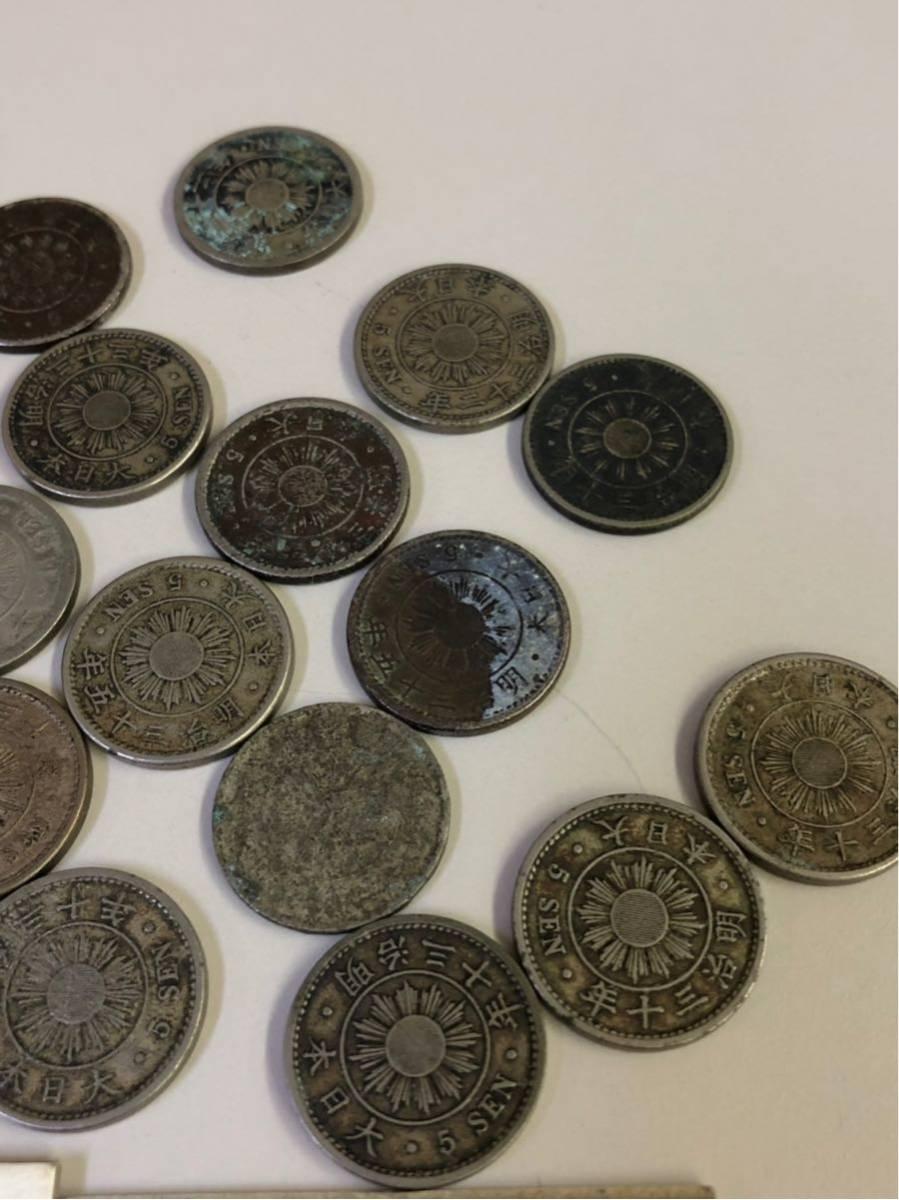 日本 古銭 稲5銭白銅貨 大量 まとめ_画像6