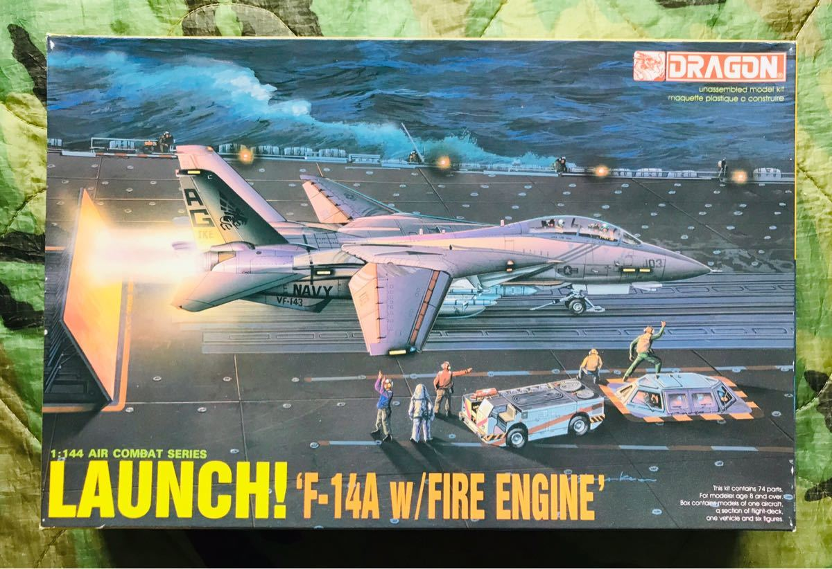 1/144 1:144 Hasegawa | Dragon F-14 A w/ FIRE ENGINE LAUNCH
